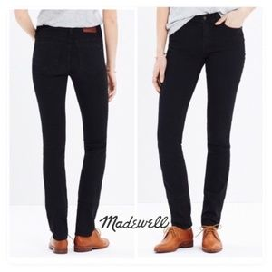 Madewell Alley Straight Black Frost Jeans NEW